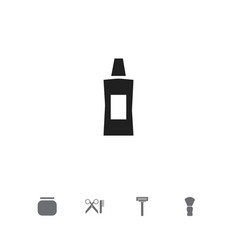 Set of 5 editable coiffeur icons includes symbols vector