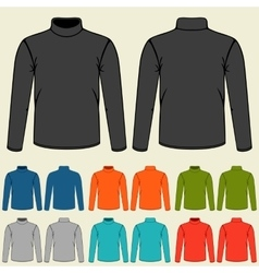 Set of colored turtlenecks templates for men vector