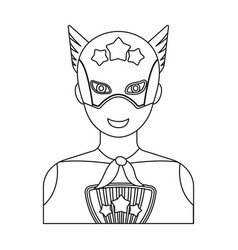 Superman single icon in outline style superman vector