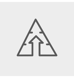 Triangle arrow up thin line icon vector