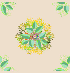 Unusual greeting in oriental boho chic style vector