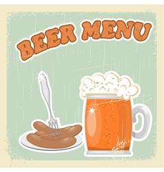 Vintage Beer Menu vector image vector image