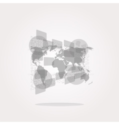 world Icon world Icon world Icon Art vector image vector image