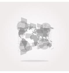 world Icon world Icon world Icon Art vector image