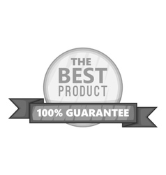 Tag best product icon gray monochrome style vector
