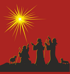 The nativity of jesus christ vector