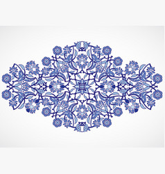Arabesque vintage element elegant floral vector