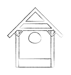 Stable wood manger icon vector