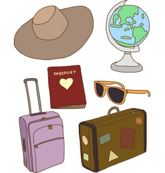 Travel concept items vector