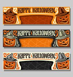 Banners for halloween vector