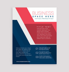 Red and blue geometric brochure design template vector