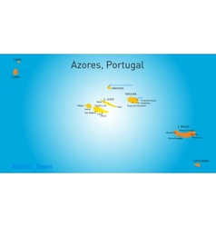 map of Azores vector image