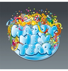 New year tag vector