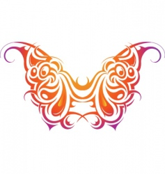 butterfly tribal vector image