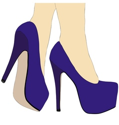 Legs and high heeled shoes 015 detail vector