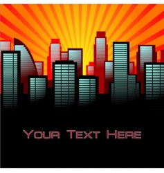 abstract city background vector image vector image