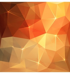 Abstract triangles orange background vector image vector image