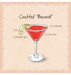 Bacardi vector image