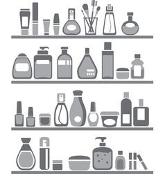 Beauty and care silhouettes vector