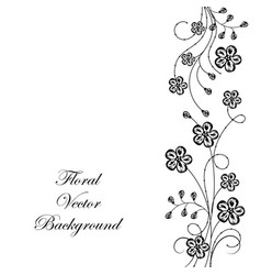 beeautiful floral background in black and white vector image vector image