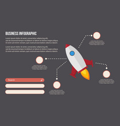 Business infographic with rocket style vector