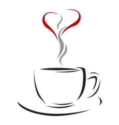 Coffee cup of love vector image vector image