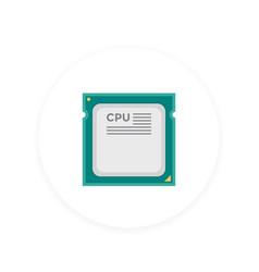 Cpu processor icon vector