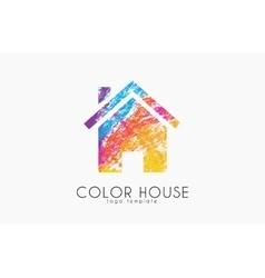 Creative house logo Color house design Home logo vector image vector image