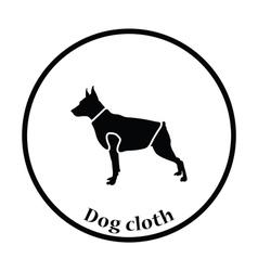 Dog cloth icon vector image