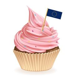 European Union Cupcake vector image