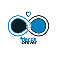 friends forever everlasting friendship unusual vector image