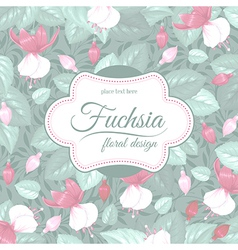 Fuchsia background vector image vector image