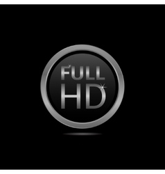 Full HD icon vector image vector image