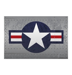 Military national aircraft insignia distressed vector