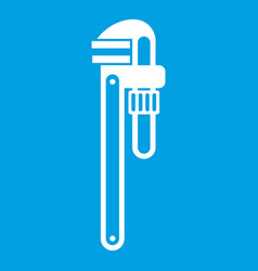 Pipe or monkey wrench icon white vector