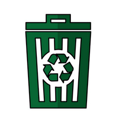 Recycle pot garbage icon vector