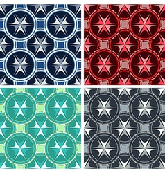 seamless abstract geometrical art pattern set vector image