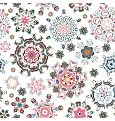 Seamless pattern vintage decorative elements vector