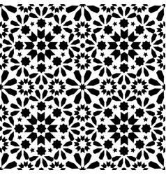 spanish moroccan tiles tile pattern - black vector image vector image