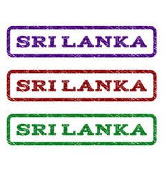 Sri lanka watermark stamp vector