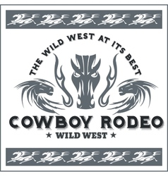Wild west - cowboy rodeo emblem vector