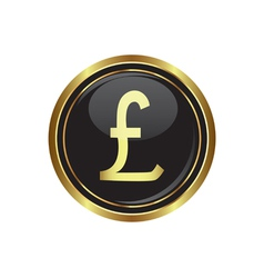 Pound icon vector