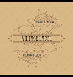 Old vintage card with floral ornament vector