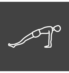 Upward plank pose vector