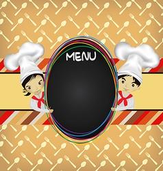 Chef Menu vector image