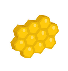 Honeycomb icon flat style isolated on white vector