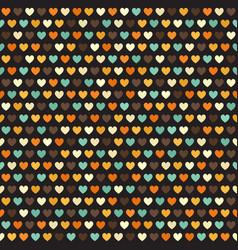 retro heart pattern seamless vector image