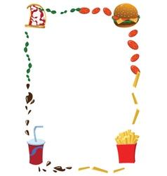 Vertical fast food frame vector