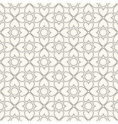 Floral seamless pattern black and white colors vector