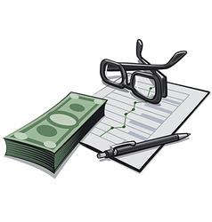 accounting money vector image